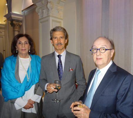 María Salvadora Ortiz, Directora de la División de Relaciones Externas de SEGIB; José Ignacio Salafranca, Eurodiputado, y Guillermo Fernández de Soto, Director para Europa de CAF, Banco de Desarrollo de América Latina