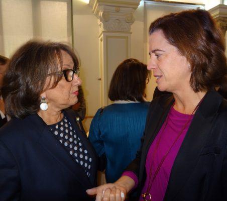 Rebeca Grynspan y Alejandra Kindelán (Banco de Santander)