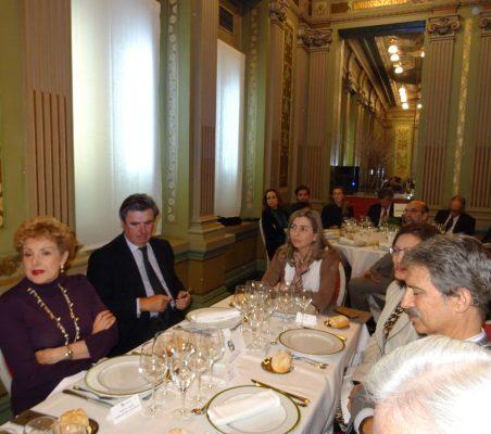 Roberta Lajous, Embajadora de México; Carlos Bastarreche; Eva Piera, y José Ignacio Salafranca