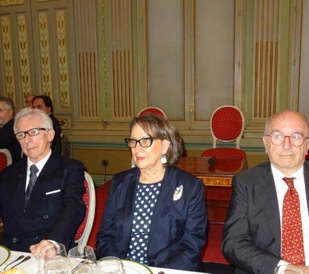Lord Daniel Brennan, Parlamento británico; ; Rebeca Grynspan, Secretaria General Iberoamericana, y Joaquín Almunia, Ex Vicepresidente y Comisario de la Competencia de la Comisión Europea