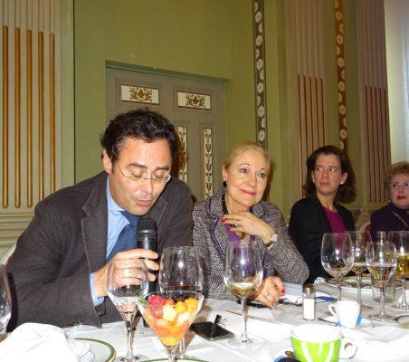 Jorge Toledo, Secretario de Estado para la UE; Benita Ferrero-Waldner, Presidenta de la Fundación Euroamérica; Alejandra Kindelan, y Roberta Lajous, Embajadora de México