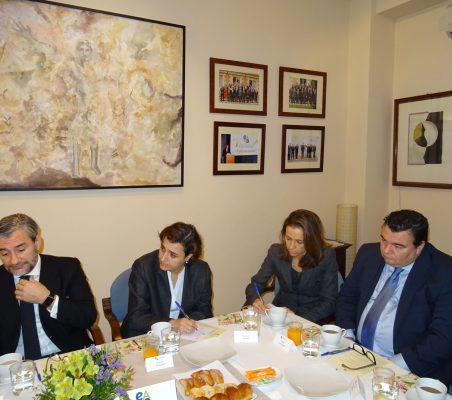 Rafael García del Poyo, Natalia Moreno, Patricia Alfayate y Óscar Díaz-Canel