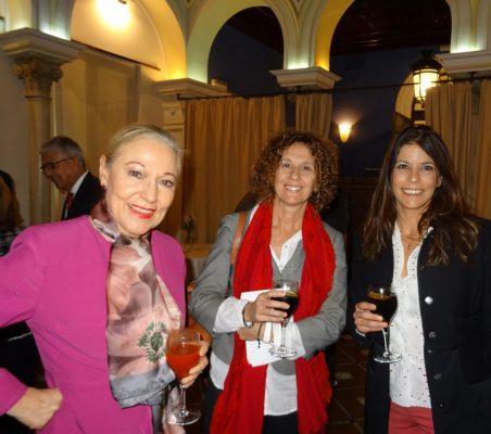 Benita Ferrero-Waldner, Presidenta de la Fundación Euroamérica; Alicia Montalvo, Directora General, ICEX, y Luciana Binaghi, Gabinete de Presidencia de Gobierno