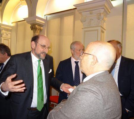 José Miguel Fernández Sastrón, Presidente de la SGAE, y Francisco Galindo