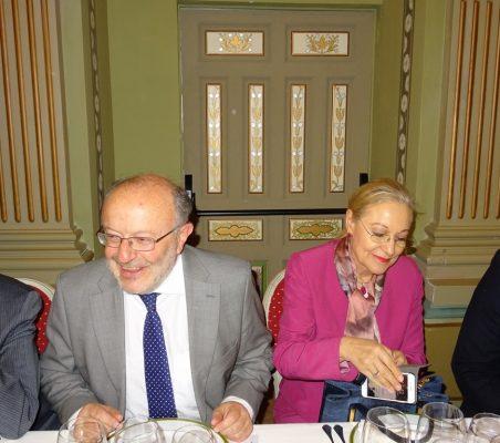 Fernando García Casas, Secretario de Estado de Cooperación Internacional y para Iberoamérica, y Benita Ferrero Waldner, Presidenta de la Fundación Euroamérica
