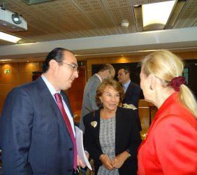 Carlos Ávila, Luisa Peña, Benita Ferrero-Waldner,