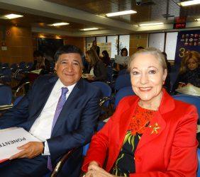 José Aravena y  Benita Ferrero-Waldner,
