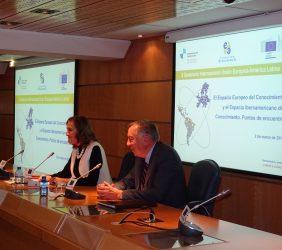 Secretaria de Estado Carmen Vela y  Carsten Moser,
