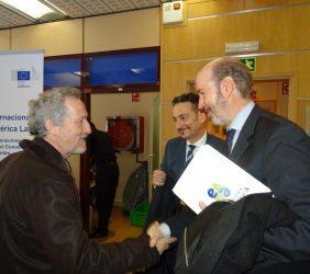 Alberto Ruiz Jimeno,  Piero Venturi y Carlos Augusto Abicalil