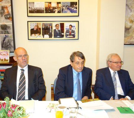 Juan Miguel Márquez, Jean Fribourg, y Almerino Furlan