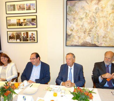 Pilar Larrea, Carlos Ávila, Carsten Moser y Felipe Fernández Atela