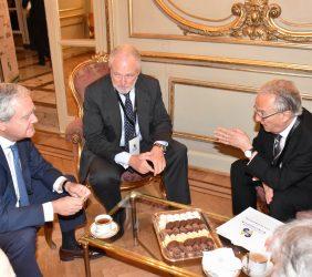 Federico Pinedo, Presidente Provisional del Senado con José Luis López-Schümmer y Ángel Durández