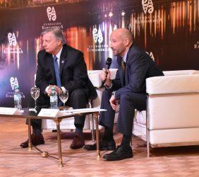 Juan José Aranguren, Ministro de Energía y Minería, Argentina y François Rudié