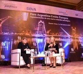 Susana Mabel Malcorra, Ministra de Relaciones Exteriores y Culto, Argentina y Benita Ferrero-Waldner, Presidenta de la Fundación Euroamérica