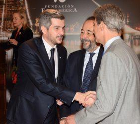 Marcos Peña con José Ignacio Salafranca y Carlos López Blanco