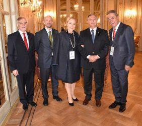 François Rudié, Benita Ferrero-Waldner ,Ministro Aranguren  y Sergio Aranda