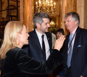 Benita Ferrero-Waldner, Marcos Peña y Guillermo Stanley