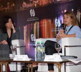 Lorella de la Cruz, Dirección General de Comercio, Comisión Europea y  Marisa Bircher , Ministerio de Agroindustria, Argentina ,