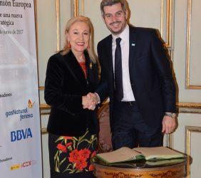 Benita Ferrero-Waldner y  Marcos Peña