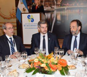 José Manuel González-Páramo, Marcos Peña y Carlos López Blanco,