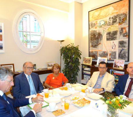 Claudio Vallejo, Francisco Ferrero, Luisa Peña, Enrique Vargas y Juan Llobell