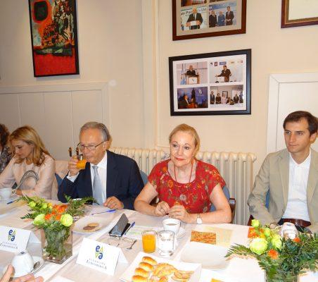 Carmen Rodríguez Arteaga, Anabella Machuca, Angel Durández, Benita Ferrero-Waldner y Antonio Vargas