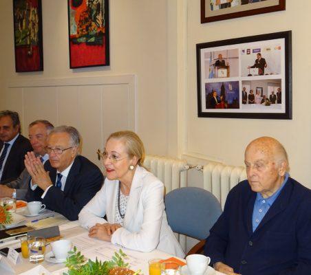 Luis Fernando Álvarez-Gascón, Carsten Moser, Ángel Durández, Benita Ferrero-Waldner y Antonio de Oyarzabal