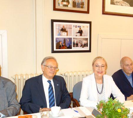 Carsten Moser, Ángel Durández, Benita Ferrrero-Waldner y Antonio de Oyarzabal