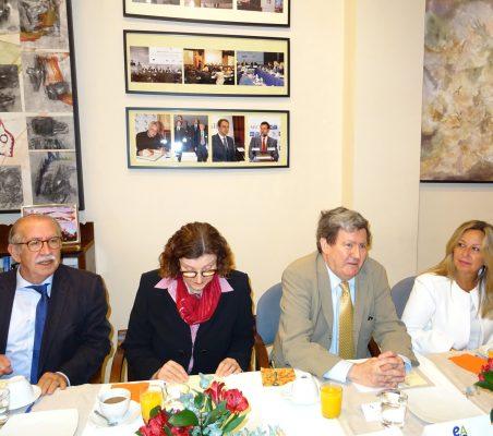 Francisco Ferrero, Mariangela Rebuá, Juan Manuel Bonet y Trinidad Jiménez