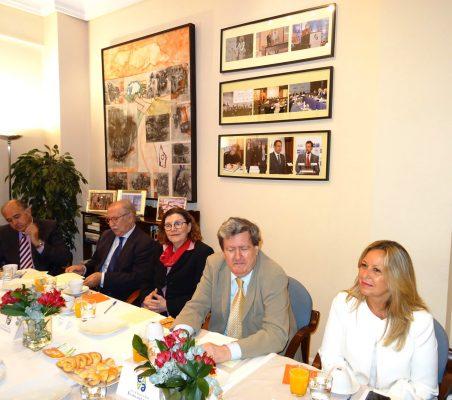 Rafael Sánchez, Francisco Ferrero, Mariangela Rebuá, Juan Manuel Bonet y Trinidad Jiménez