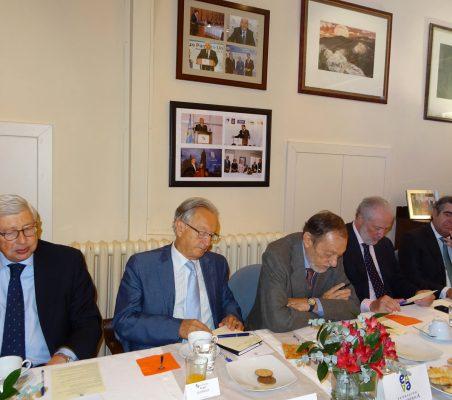 Rafael Puyol, Ángel Durández, Emilio Cassinello, José Luis López-Schümmer y Carlos López