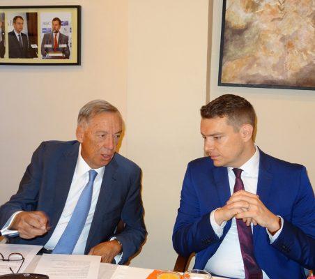 Carsten Moser, Vicepresidente de la Fundación Euroamérica, y Eike Krebs, Primer Secretario de Asuntos Públicos de la Embajada de Alemania