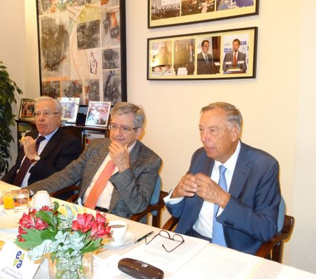 Ángel Bizcarrondo, Consejo Asesor de Auren; Enrique Barón, Ex presidente del Parlamento Europeo; Carsten Moser, Vicepresidente de la Fundación Euroamérica