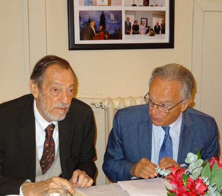 Emilio Cassinello, Vicepresidente de la Fundación Euroamérica, y Ángel Durández, Vicepresidente de la Fundación Euroamérica