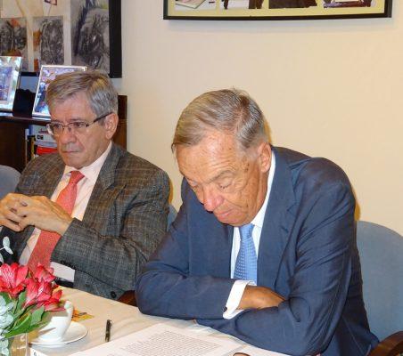 Enrique Barón, Ex presidente del Parlamento Europeo; Carsten Moser, Vicepresidente de la Fundación Euroamérica