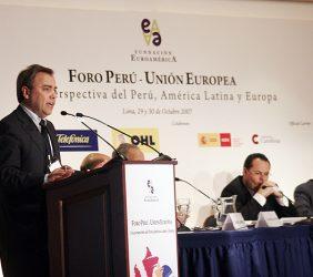 Javier Manzanares, Presidente de Telefónica del Perú