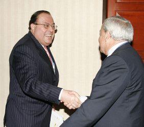 Julio Velarde, Presidente del Banco Central de la Reserva de Perú, y Carlos Solchaga, Presidente de la Fundación Euroamérica