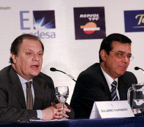 Guillermo Thornberry, Presidente de OSIPTEL, y Reinaldo Rodríguez, Presidente de la Comisión de Mercado de las Telecomunicaciones, España