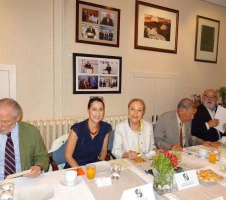 José Luis López-Schümmer, Isadora Zubillaga, Benita Ferrero-Waldner, Carsten Moser y Carlos Esco