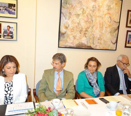 Laura Chinchilla, Ex presidenta de Costa Rica; José Ignacio Salafranca, Eurodiputado; Natalia Moreno, Directora de Relaciones Institucionales Global de Telefónica; José Eladio Seco, Consejero del grupo ACS