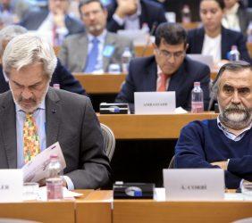 Paulo Speller, Secretario General de la OEI,  y Ángel Corbí, Coordinador científico tecnológico de CYTED