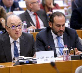 Guillermo Fernández de Soto, Director Corporativo para Europa de CAF, e Ignacio Corlazzoli, Representante del BID