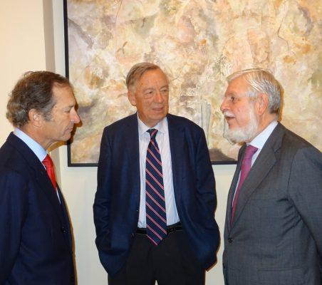 Borja Baselga, Director de la Fundación Banco Santander; Carsten Moser, Vicepresidente de la Fundación Euroamérica, y Manuel Alabart, Vicepresidente de Técnicas Reunidas Internacional