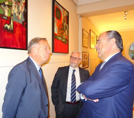Carsten Moser, Vicepresidente de la Fundación Euroamérica; Bernardo da Cunha, Director de Planificación de SEGIB, y José Antonio Silva e Sousa, Presidente de la Fundación Luso-Española