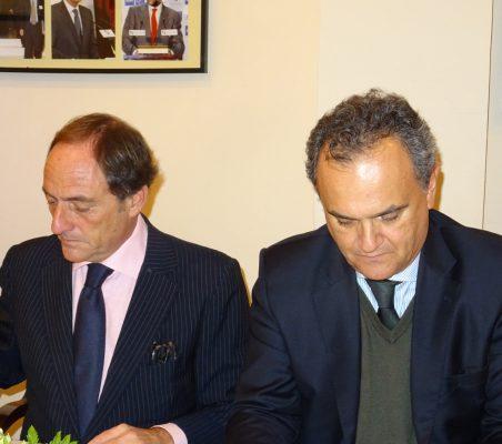 Paulo Portas y Francisco Ribero de Menezes