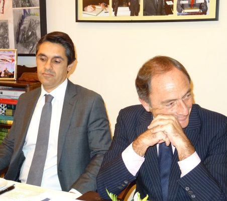 Tiago Vidal, Director General de LL&C en Portugal, y Paulo Portas, Viceprimer Ministro de Portugal y Ministro de Exteriores (2011-2015)