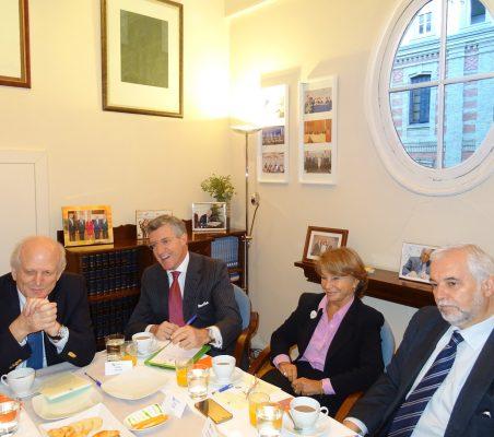 Carlos Malamud, Claudio Vallejo, Luisa Peña y Bernardo da Cunha