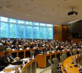 Público asistente. A la izquierda, Luisa Peña, Directora General de la Fundación Euroamérica