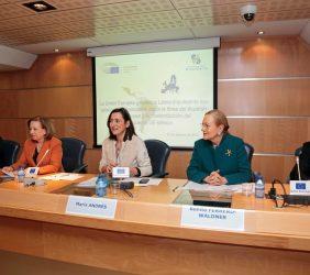 Hugo Sobral, Marisa Poncela, María Andrés, Benita Ferrero-Waldner y José Pascual Marco Martínez