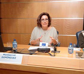 Monserrat Domínguez, periodista, e Inmaculada Rodríguez-Piñero, eurodiputada